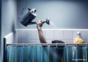 Illustration ECS douche avec arrosoir