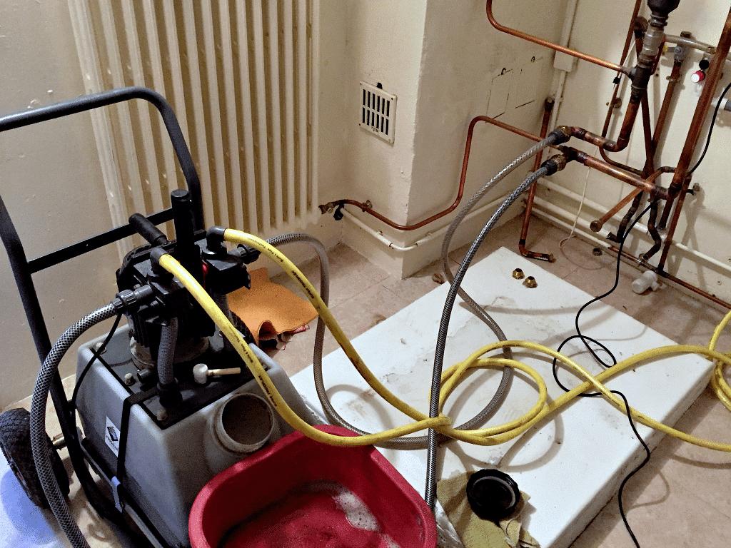 Montigny-les-Metz - Désembouage de toute l'installation et des radiateurs