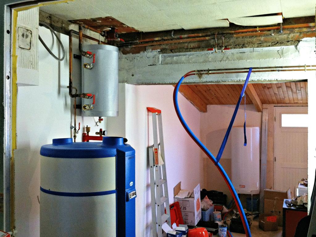 Saulny - Pose du chauffe-eau thermodynamique