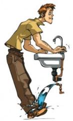 SOS - Illustration d'une panne d'eau