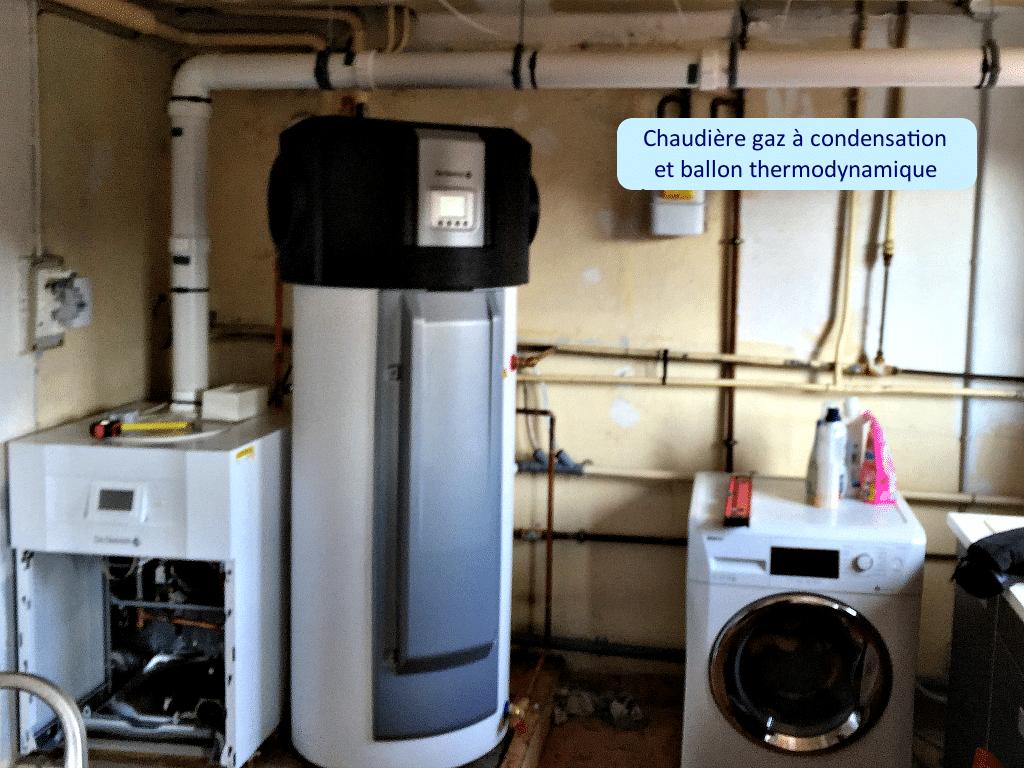 Chaudière gaz à condensation et ballon thermodynamique